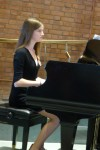 Isabelle Boone preformed a piano solo