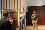 Bryan Dawson, AHF Executive Chairman, and Andras Lincoln sang the national anthems of the United States and Hungary: The American Hungarian Federation Commemorates Hungarian National Day and the 1848 Hungarian Revolution