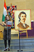 "Members of the the The 4th Bátori József Hungarian Scouts Troop of Washington, DC, were a major part of the program. Krisztina Nyerges performed a flute solo of Vivaldi's ""Largo."""