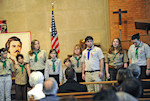 Members of the the The 4th Bátori József Hungarian Scouts Troop of Washington, DC, were a major part of the program