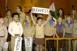 "The entire 4th Hungarian Scout troop performed ""Emlékezés"" (Remembrance)"