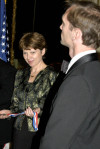 Zsuzsa Kiss Toth and Peter Ujvagi after accepting the 2006 Col. Commandant Michael Kovats Medal of Freedom