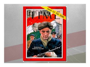 "The 1956 Hungarian Freedom Fighter, Time Magazine's ""Man of the Year."""