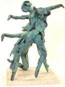 "Gyuri's Hungarian parents emigrated to Germany in 1945, where he was born in Bad-Aibling in 1946. In the mid 1950's his family left Germany to settle in Cleveland, Ohio. His sculpture, ""Dancing Loons"" is seen here."