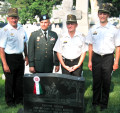 Military Participants in AHF's Memorial Day Commemoration: Left to Right: Col. Juhasz, Lt. Col. Vekony, Col. Varga, and Maj. Bone