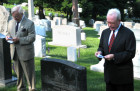 Dr. Imre L. Toth and Zoltan Bagdy deliver the roll call of Hungarian American Veterans at AHF's Memorial Day 2006 Commemoration