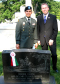 Lt. Col. Steve Vekony and Executive Committee Chair Bryan Dawson-Szilagyi
