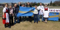 "Carrying Szekely Flag and a sign that read ""Autonomy for Szekelyland,"" the group marched around the White House in Washington, DC, and raised awareness of the situation facing the ethnic-Hungarian community in Rumania"