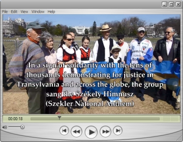 Supporters sing the Székely National Anthem [click to listen]