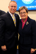 Bryan Dawson with Marcy Kaptur who is a recipient of the Officer's Cross of the Order of Merit of Hungary in recognition of her outstanding work as Co-Chair of the Hungarian-American Caucus and for providing a significant voice and platform for Hungarian-Americans across the United States.