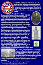 AHF 100 YEARS DISPLAY: AHF and the Kossuth Bust in the US Capitol