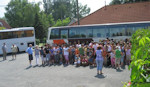 Two buses picked up the children in the three villages and began the long ride through Budapest and on to the camp in Fonyódliget
