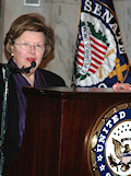 The CEEC invited a number of distinguished guests to address the gathering. They thanked the CEEC for its ongoing efforts, expressed their support for NATO and the open door policy, reviewed U.S. Russian relations and urged the inclusion of Georgia and Ukraine in the Membership Action Program. Senator Barbara A. Mikulski (D-MD) is seen here.