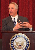 The speakers included John M. Shimkus (R-IL) seen here