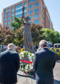 AHF's Paul Kamenar, General Counsel and AHF Vice President Dr. Imre Nemeth presented our wreath in memory of those brave Hungarians who fought against Soviet occupation in 1956 and other victims of communism.