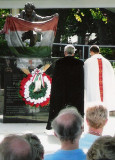 Rev. Stephen Nagy and Father Emil Vargyas dedicate the 1956 memorial in Naples Florida's Collier County