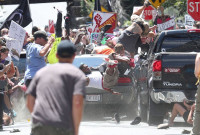 Alt-Right White Supremacist, James Alex Fields Jr., plows his car into peaceful protestors in Charlottesville killing Heather Heyer