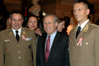 US Secretary of Defense Don Rumsfeld with Hungarian Military representatives at the US Capitol 1848 commemoration event.