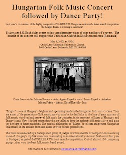 Magos Band comes to Washington, D.C. on May 6, 2012! A Hungarian Folk Music Concert followed by Dance Party!