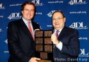 On November 3, 2011, the Anti-Defamation League presented the Jan Karski Courage to Care Award posthumously to Count Janos Esterhazy. Giovanni Malfatti, Esterhazy's grandson seen here with ADL National Director Abraham Fox, was in New York to accept the award on behalf of the family.