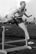Les (Laszlo) Besser, was national under-16 year hurdle record holder in 1952, graduated from Kando Kalman technical school in 1954, and won two Hungarian national junior championships in 1955. Escaping to Canada after the 1956 revolution, he continued with his running career, and received a track scholarship to study electrical engineering in the US.