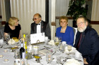 Zsuzsa Kocsis, the Gergelys, and Gyuri Hollosy at the Col. Commandant Michael Kovats table