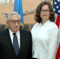 Henry Kissinger with Klaudia Kovacs