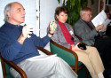 Frank Kapitan, manager of Washington Branch of HRFA, speaking next to Zsuzsa and Imre Toth
